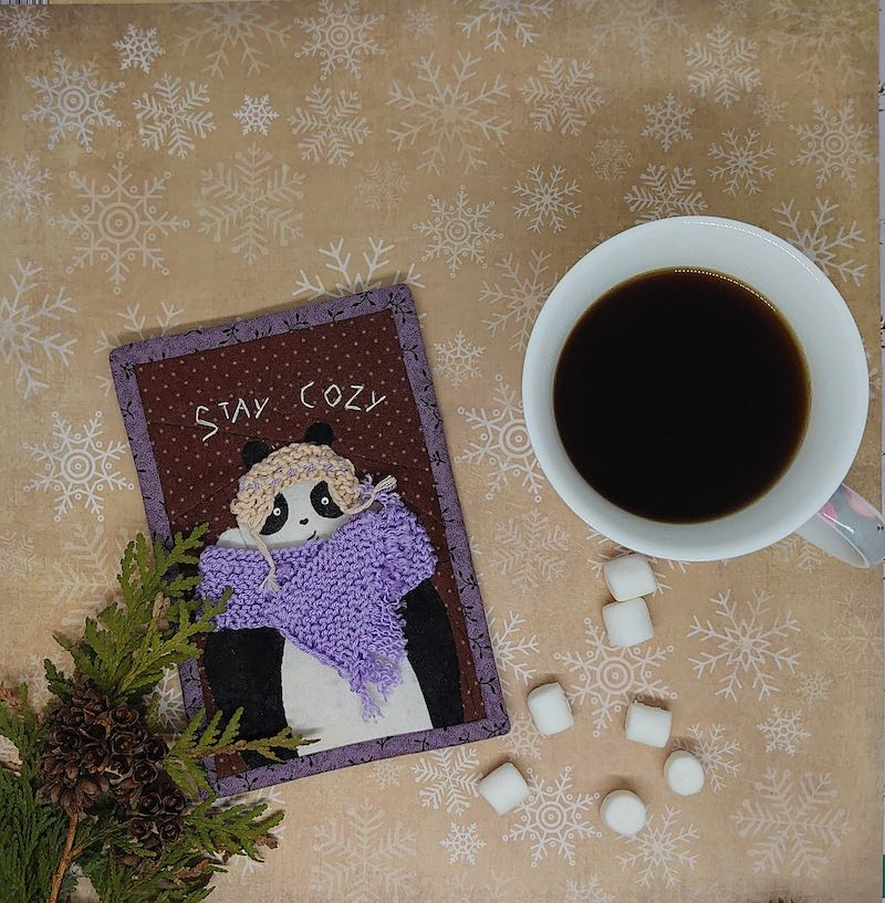 Stay Cozy mini quilt