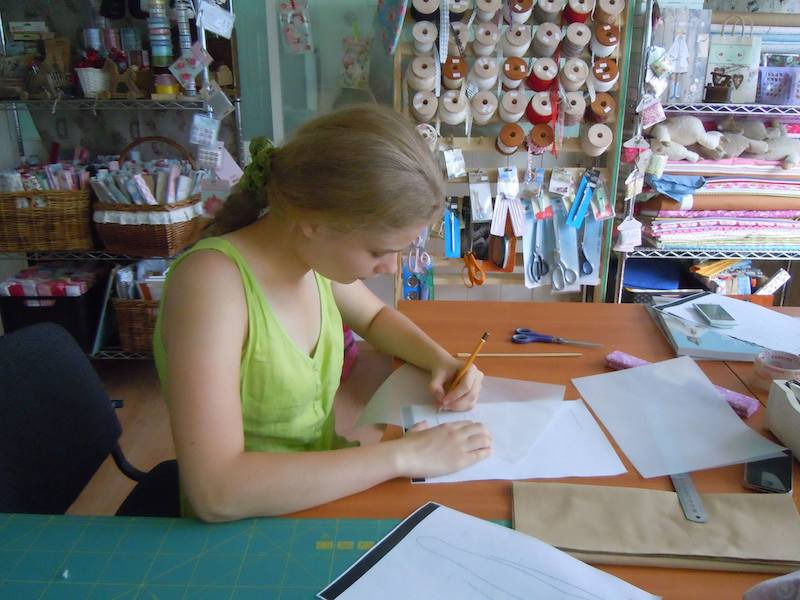 Olesya at work in her studio