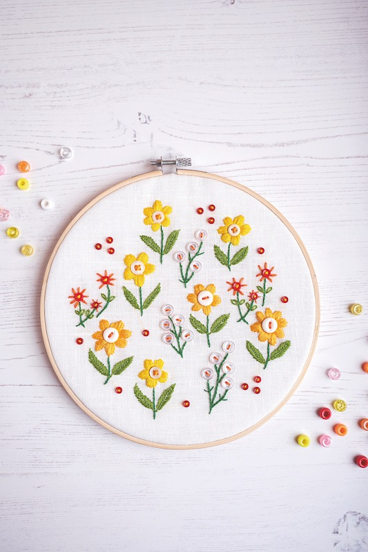 Flower embroidery by Rosemary