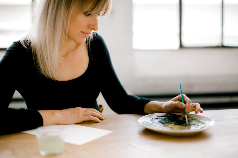 Sarah painting
