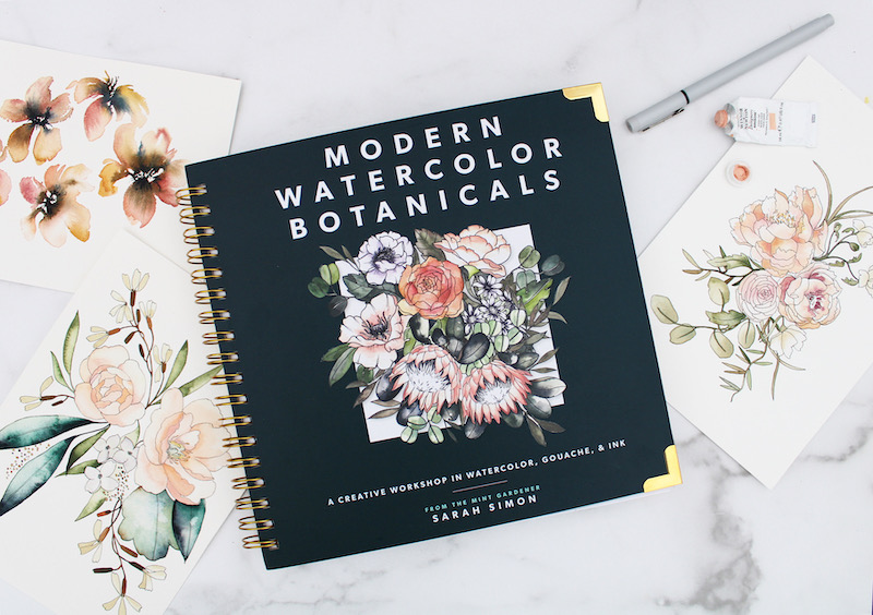 Modern Watercolor Botanicals book cover