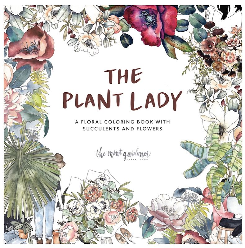 The Plant Lady Coloring Book cover
