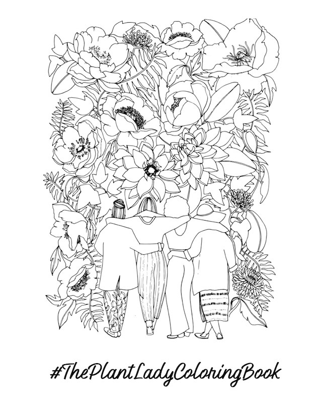Sample of The Plant Lady Coloring Book