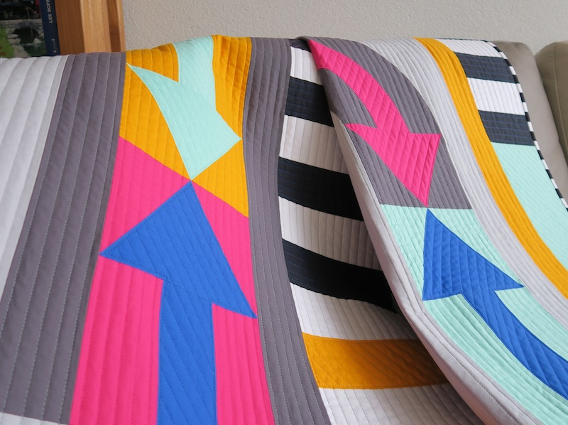 Funky Town, Quilting Close-Up