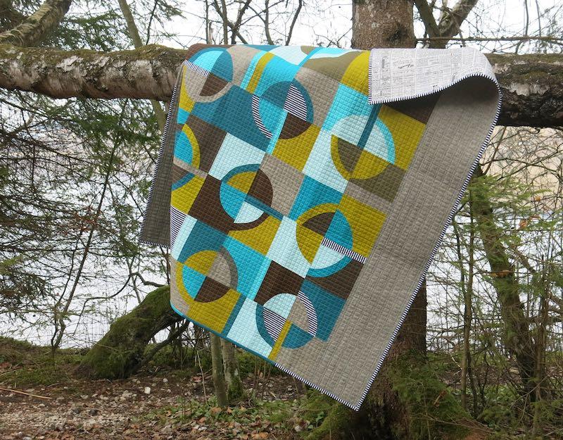 Retro quilt by Sophie Zaugg