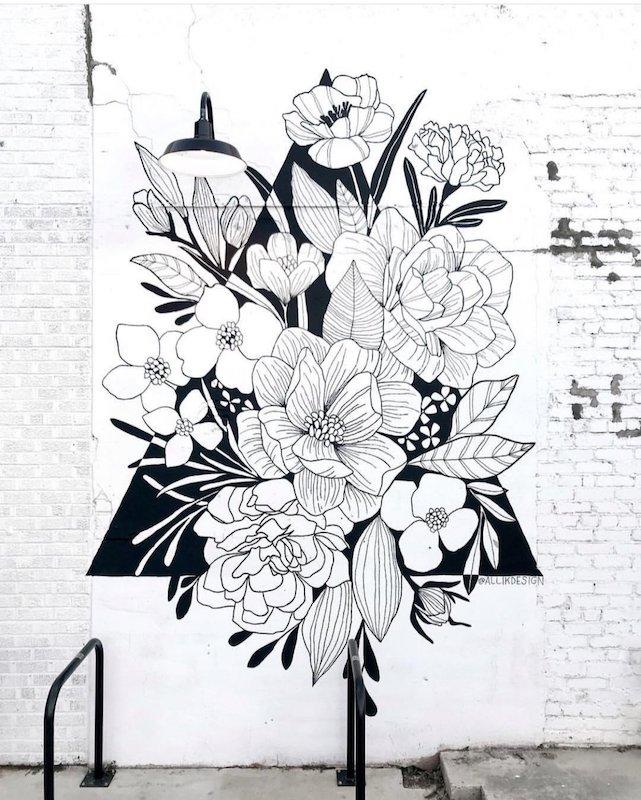 Alli Koch Flower Mural