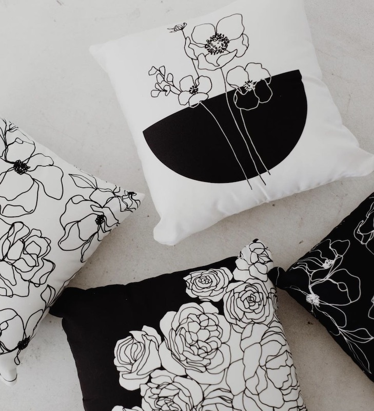 Pillows with Alli's designs