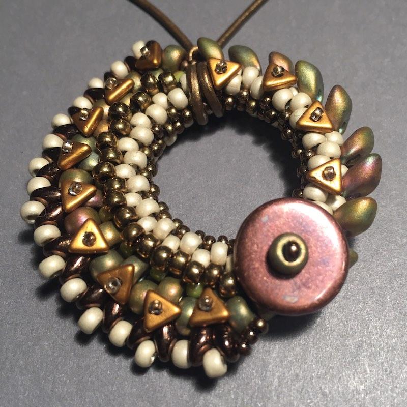Freeform beaded pendant