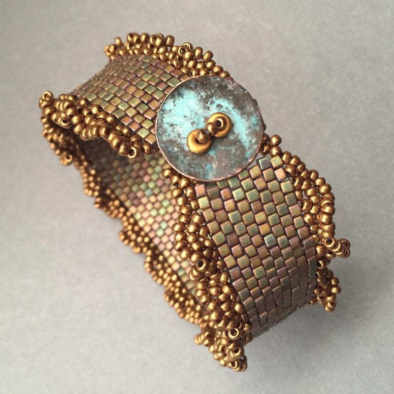 Cube bead bracelet