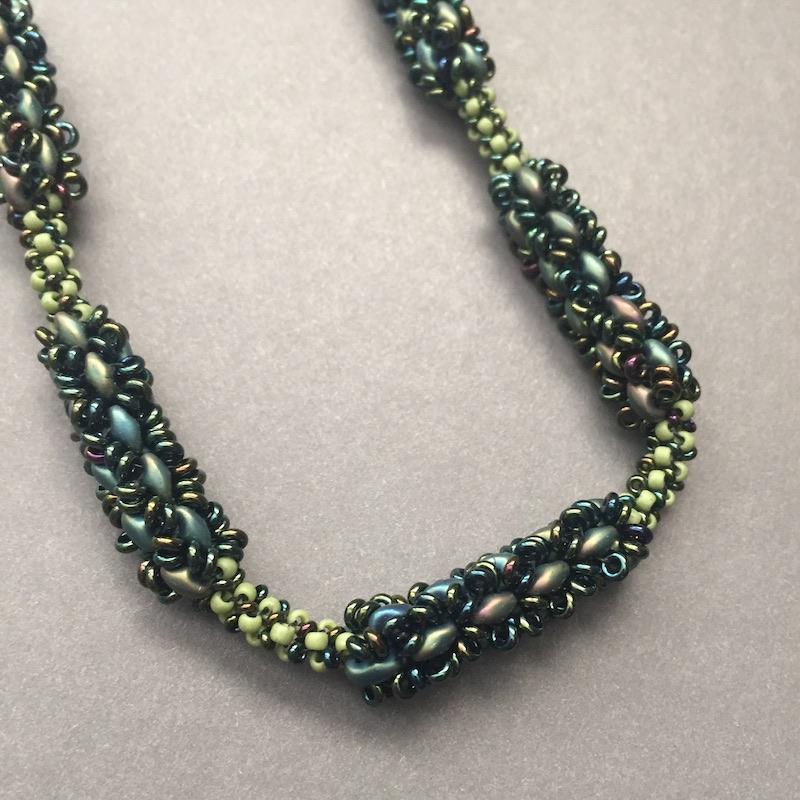 Beth Stone superduo bead necklace