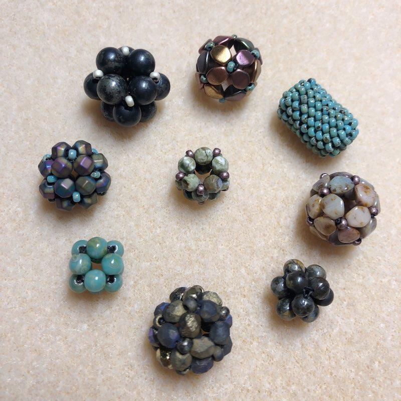 Variety of beaded beads