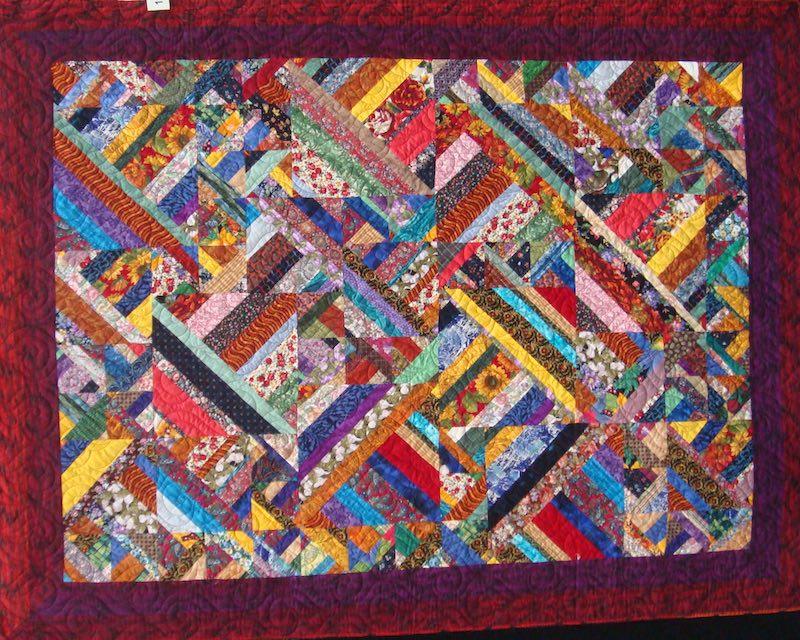 Strip quilt by Cinzia