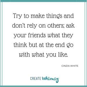 Cinzia White Quote