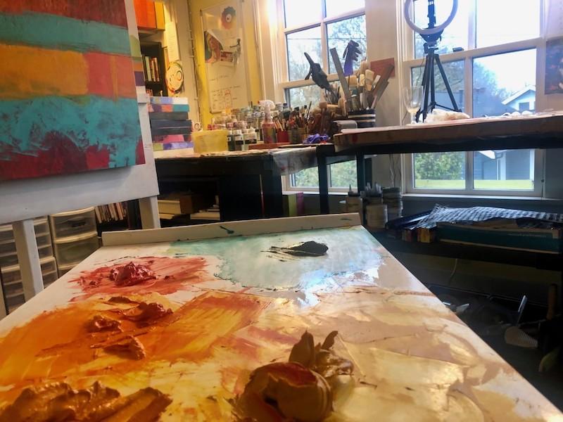 Dayna's studio