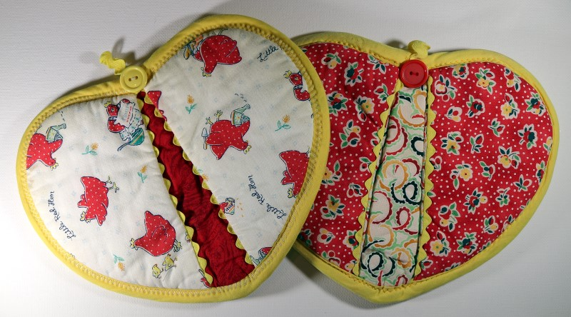 Two Whimsical Patterned Potholders