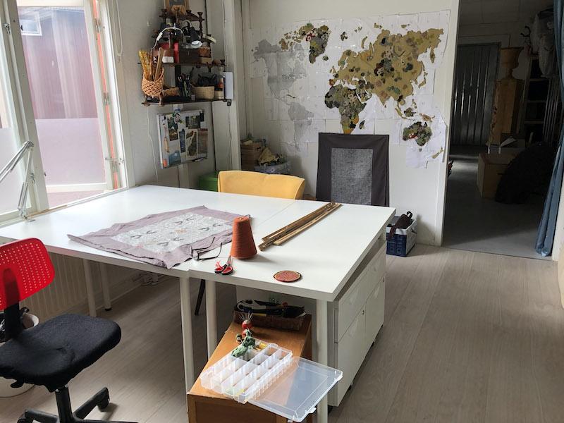 Hannah's studio