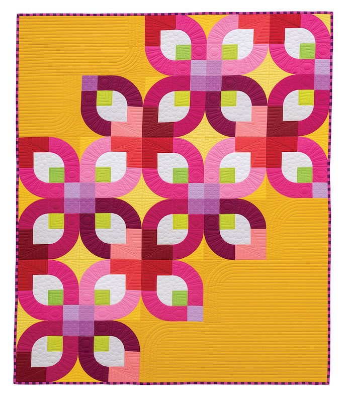 Gold and pink quilt