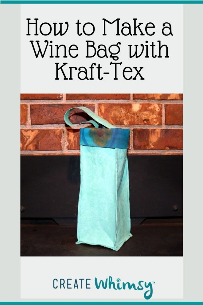 How to make a wine bag with kraft-tex 1