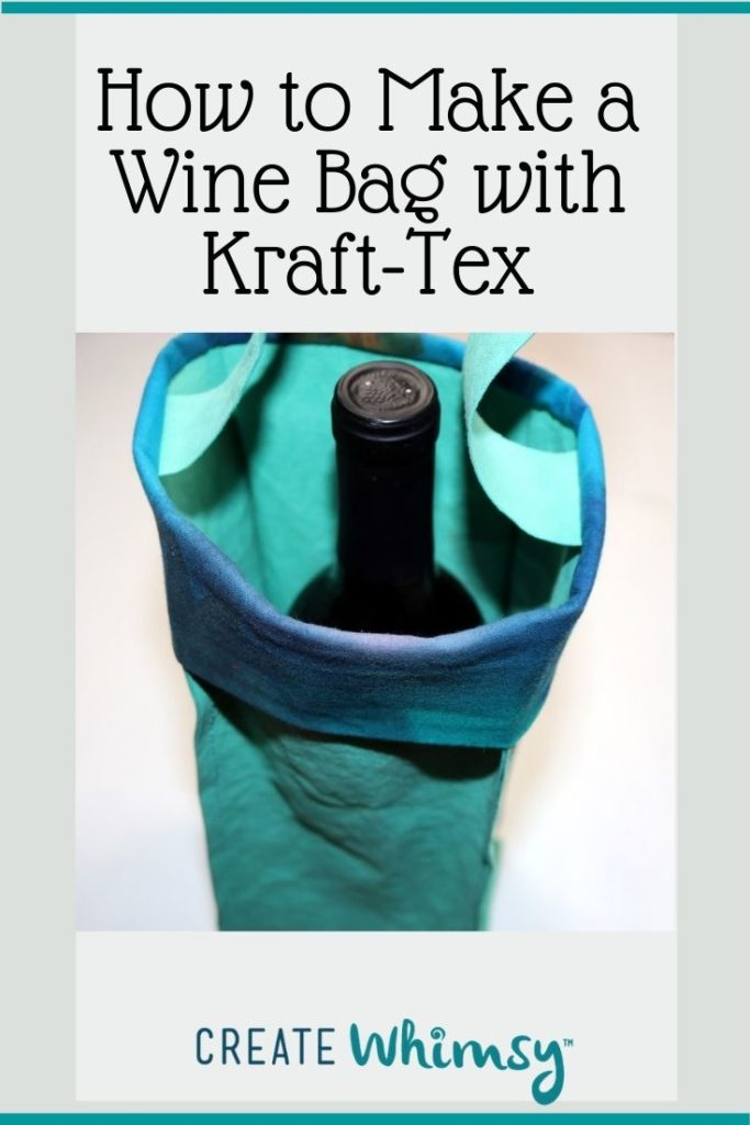 How to make a wine bag with kraft-tex 2