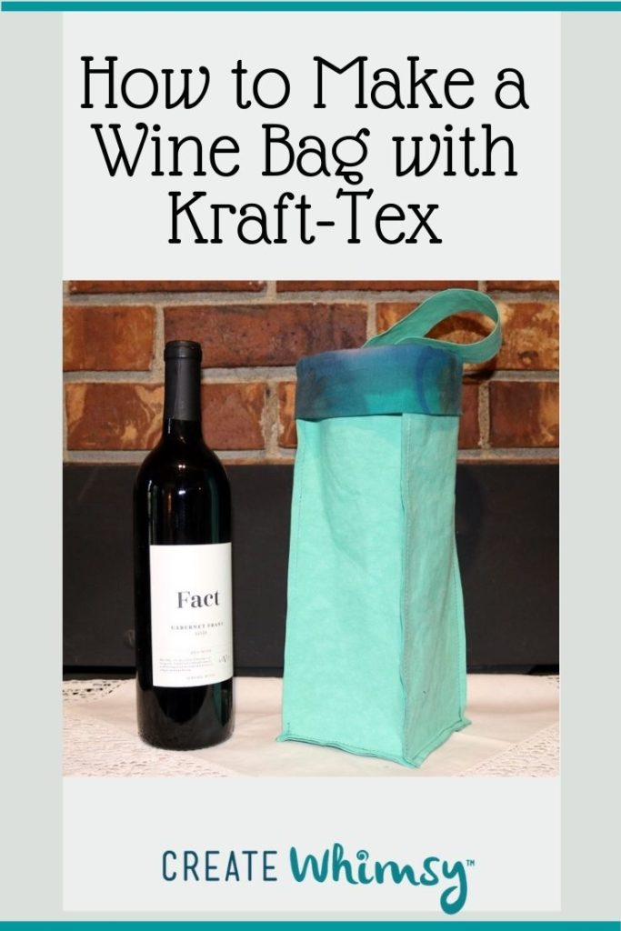 How to make a wine bag with kraft-tex 3