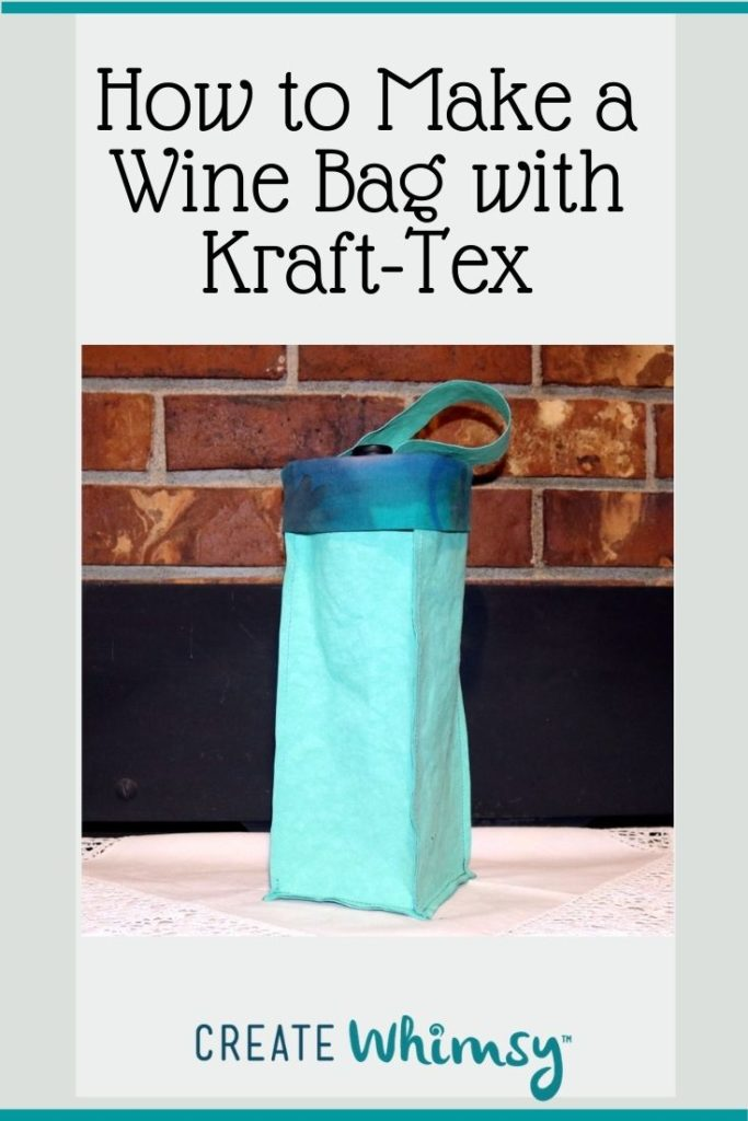 How to make a wine bag with kraft-tex 4