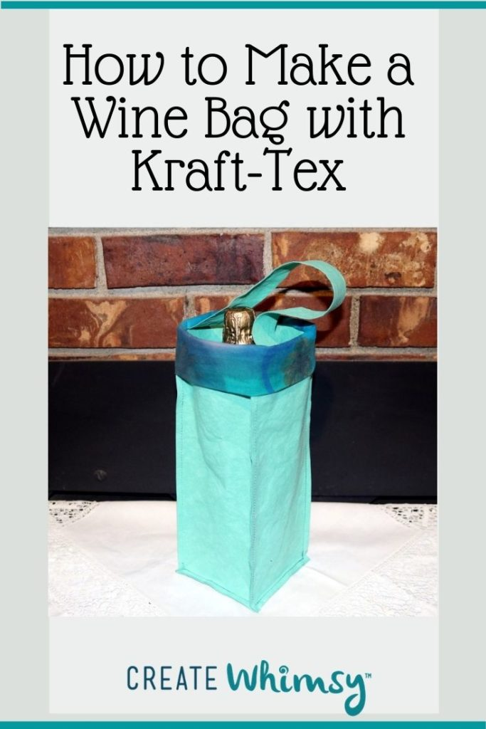 How to make a wine bag with kraft-tex 5