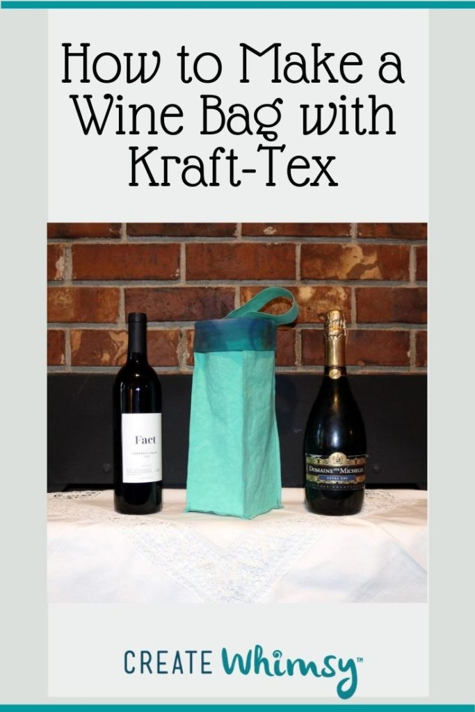 How to make a wine bag with kraft-tex 7