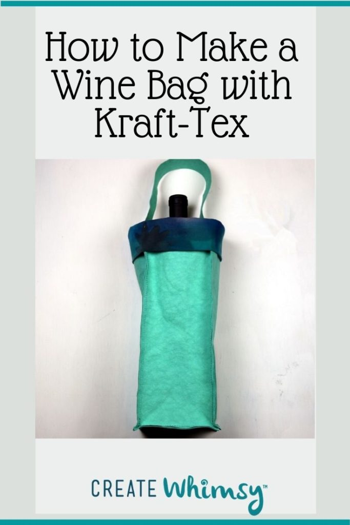 How to make a wine bag with kraft-tex 8