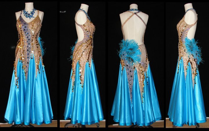 One of Linda's ballroom costumes