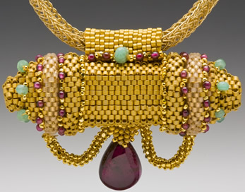 Beaded pendant by Maggie Meister