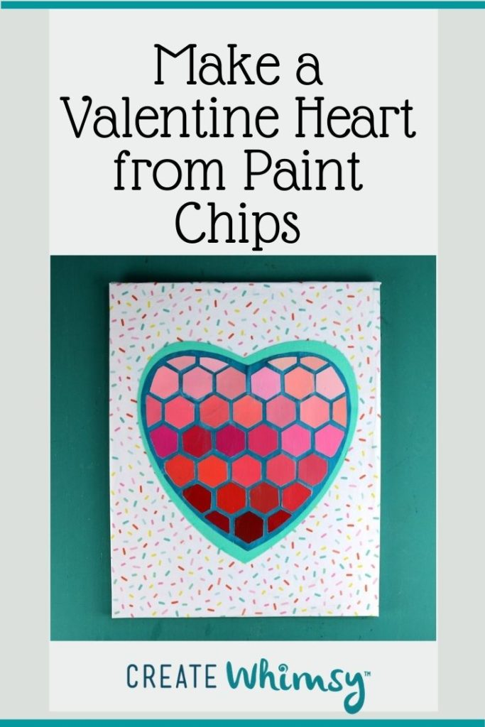 Paint Chip Heart 2