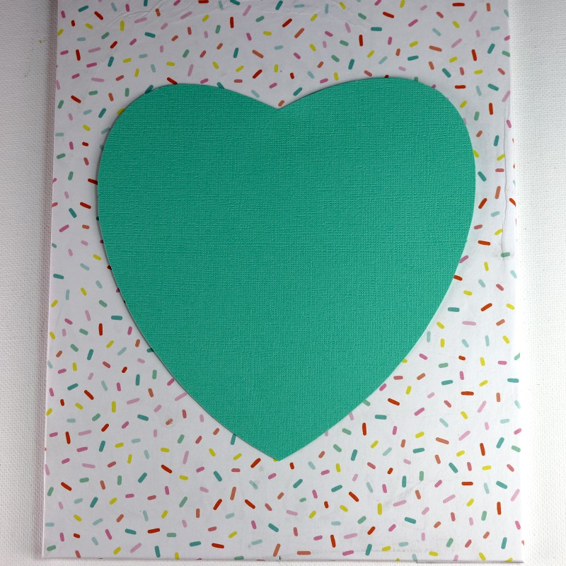 Paint Chip Heart Collage center large heart