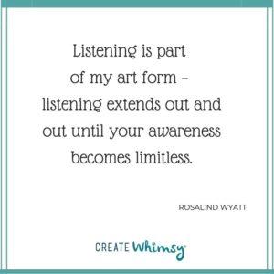 Rosalind Wyatt Quote