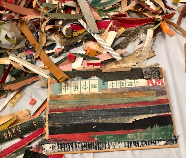 Salvage collage work with old books