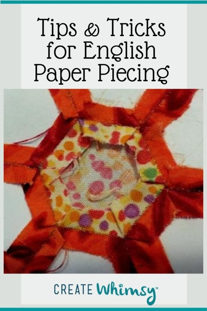 Tips and tricks for English Paper piecing Pin 1