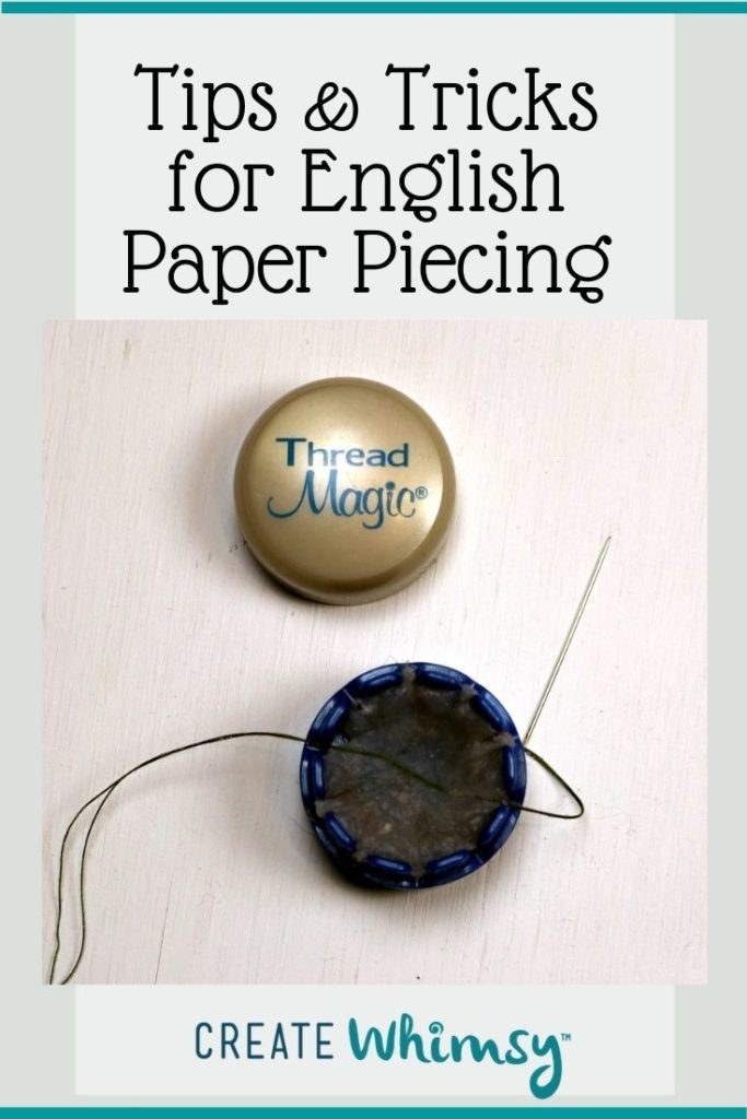 Tips and tricks for English Paper piecing Pin 2