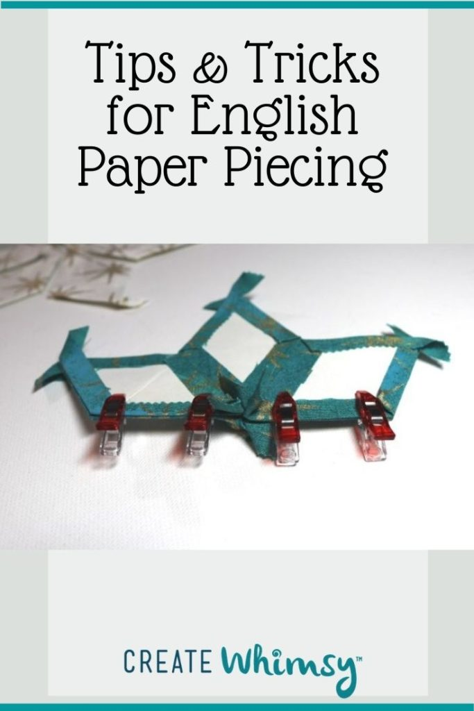 Tips and tricks for English Paper piecing Pin 3