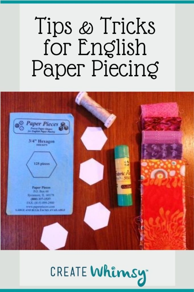 Tips and tricks for English Paper piecing Pin 8