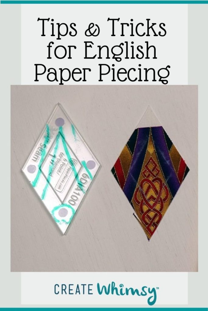 Tips and tricks for English Paper piecing Pin 9