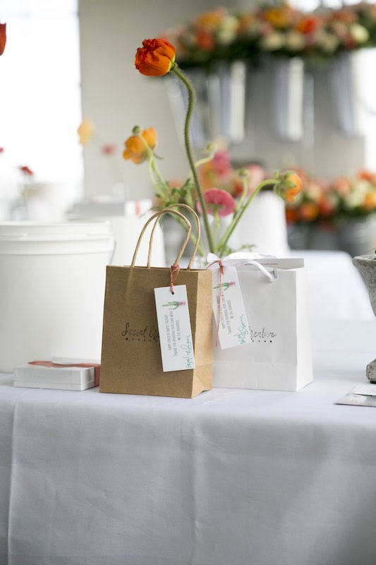 Gift bags at social creative event