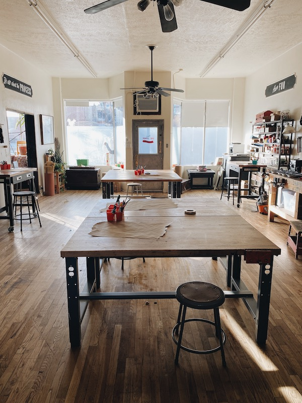 Delanie's studio tables