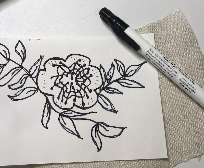 Embroidery transfer heat sensitive pen