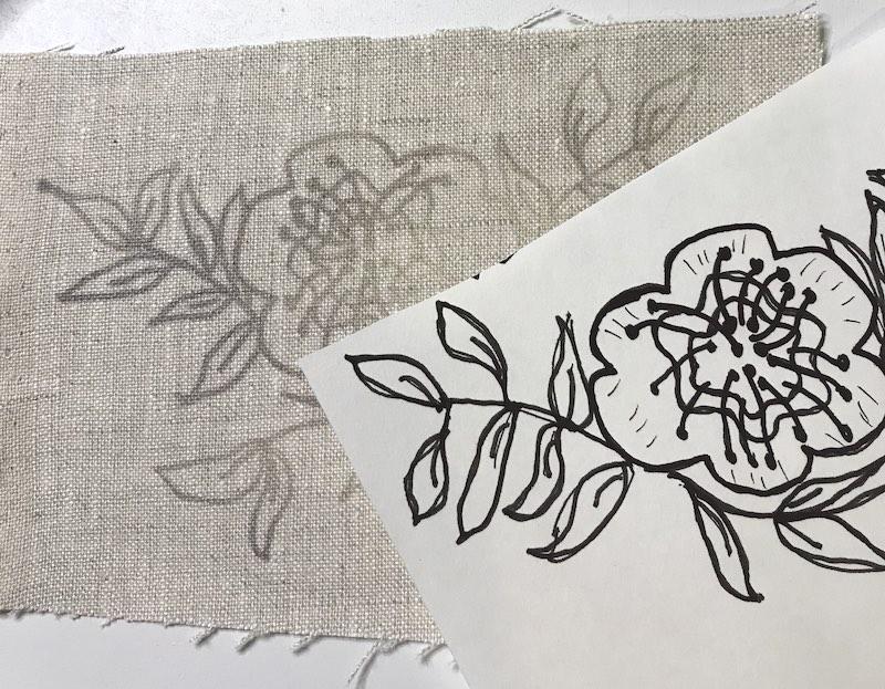 Embroidery transfer heat senstive pen final transfer