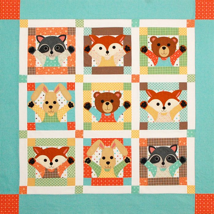 Critters quilt by Erin Russek