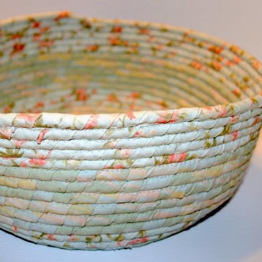 Fabric Coil Bowl Pastel detail