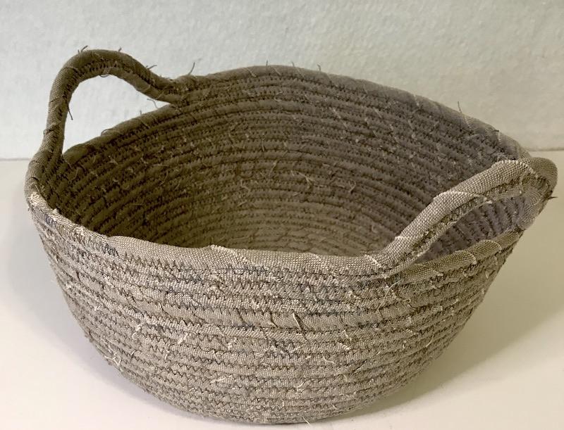 Fabric basket Finished linen basket with handles
