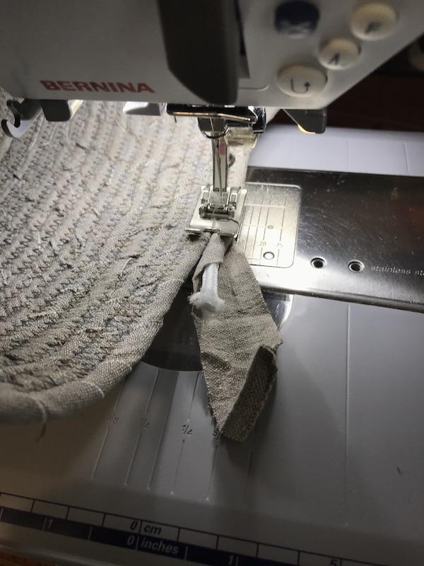 Fabric basket Finishing the end