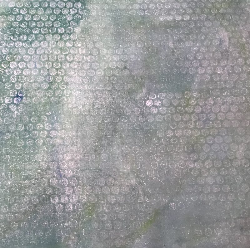Hand painted background fabric