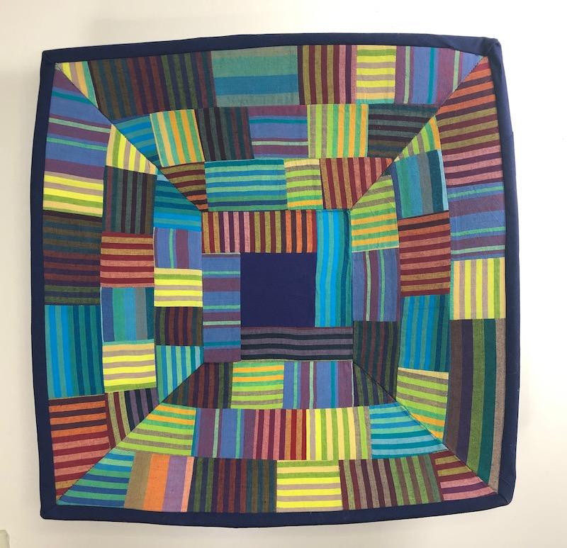 Stripe fabric bowl