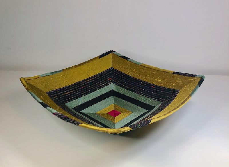 Silk fabric bowl side view